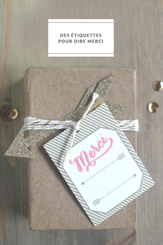 La mariee aux pieds nus - DiY - Des etiquettes pour dire merci