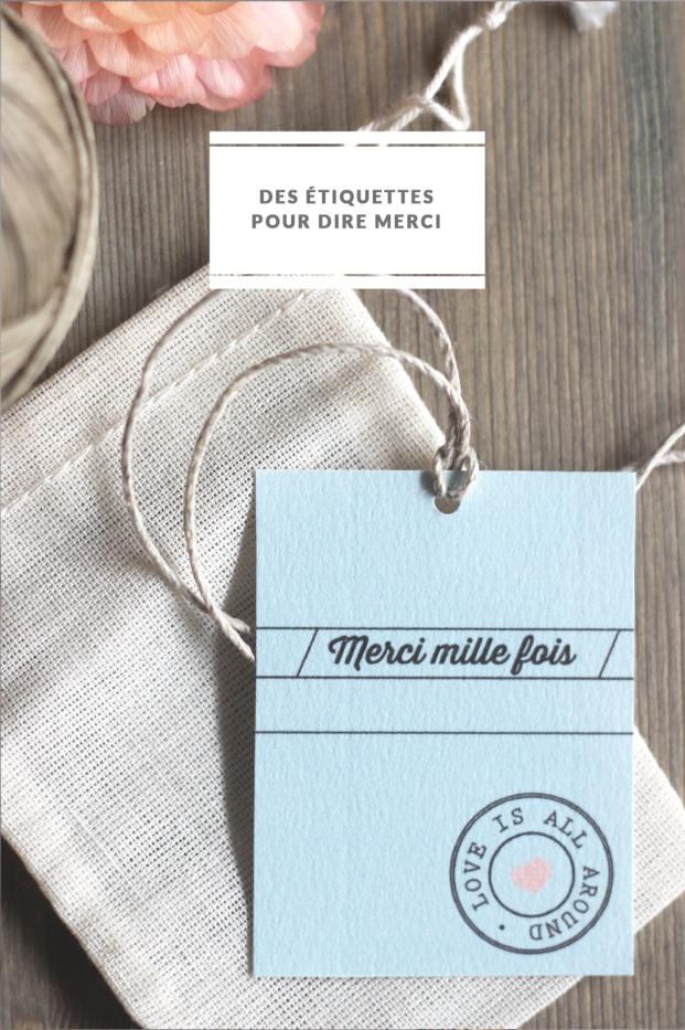 La mariee aux pieds nus - DiY - Des etiquettes pour dire merci a telecharger - Mister M Studio