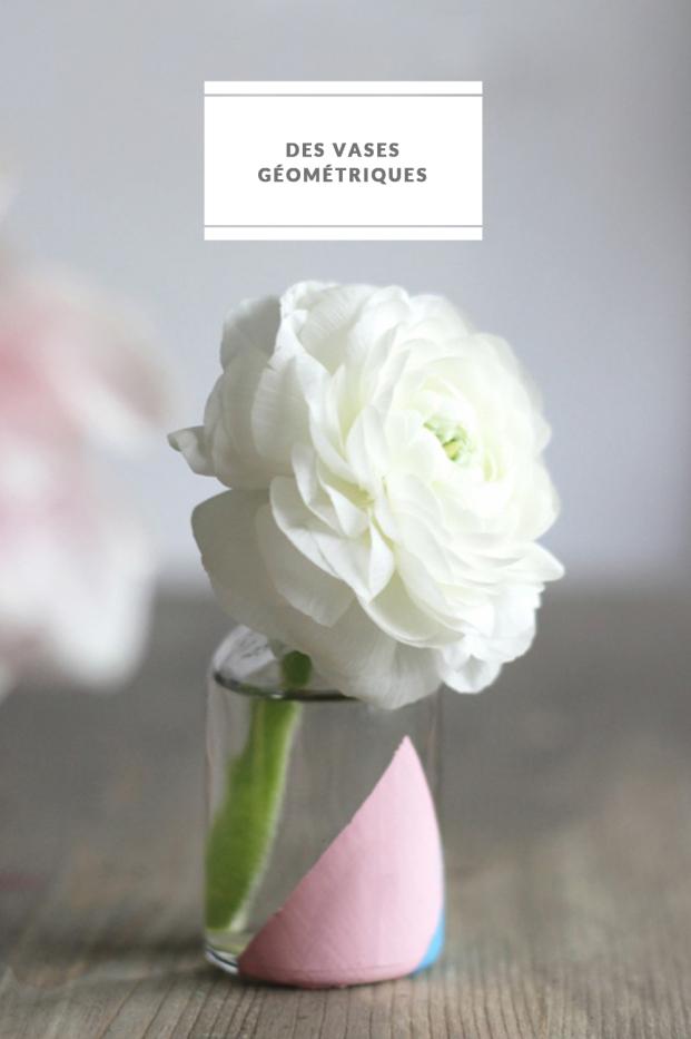 La mariee aux pieds nus - DiY - Des vases geometriques