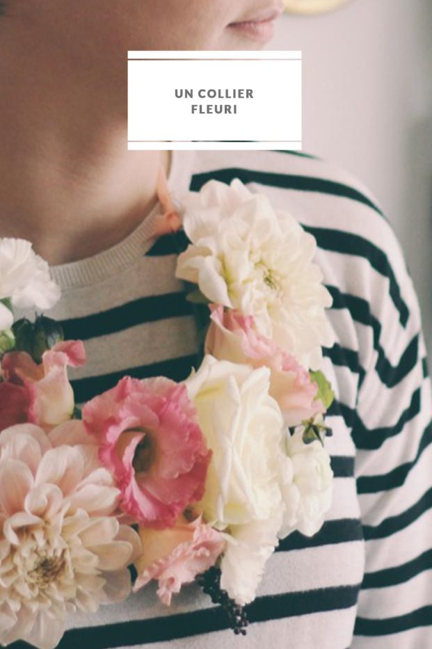 La mariee aux pieds nus - DiY - Un collier fleuri