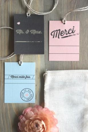 La mariee aux pieds nus - Etiquettes merci - Mister M Studio pour La mariee aux pieds nus - 2