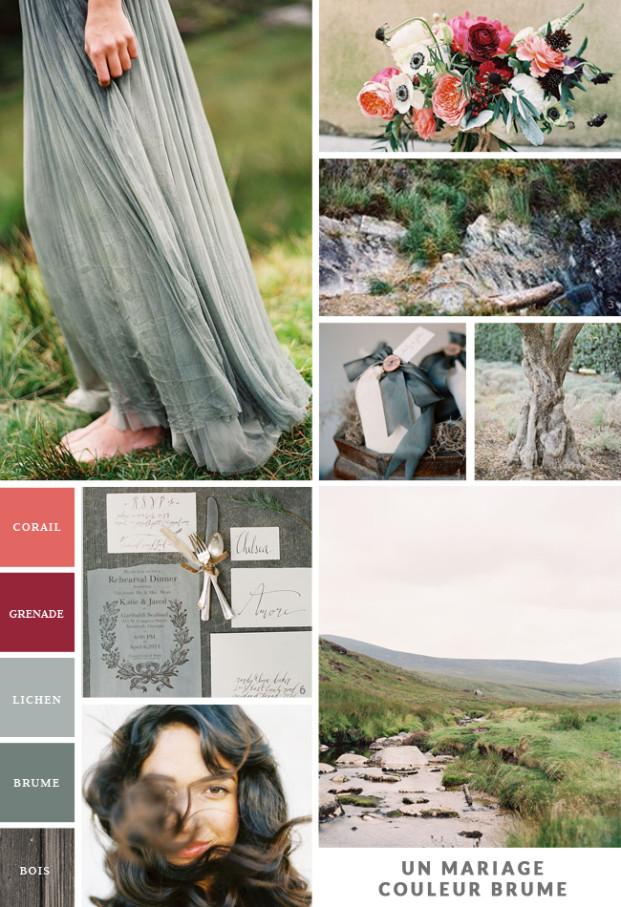 Un mariage couleur brume - Inspiration - La mariee aux pieds nus