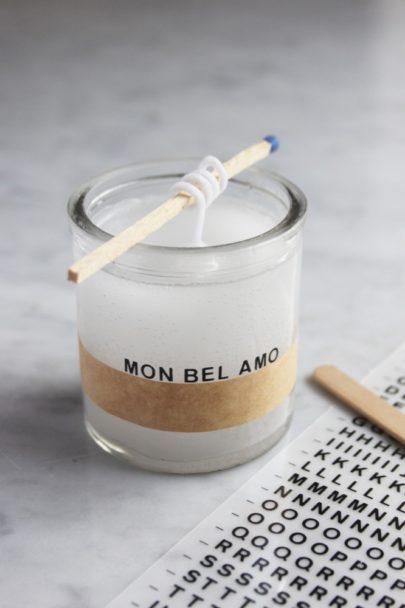 La mariee aux pieds nus - Do it yourself - Une bougie a offrir a son amoureux pour la saint Valentin
