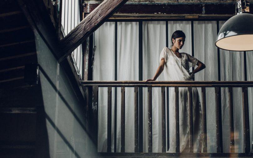 La mariée aux pieds nus - Laure de Sagazan - Robes de mariée - Collection 2016 - Top Vigo sur débarteur Bertin et Jupe Mirabeau - Photo : Laurent Nivalle