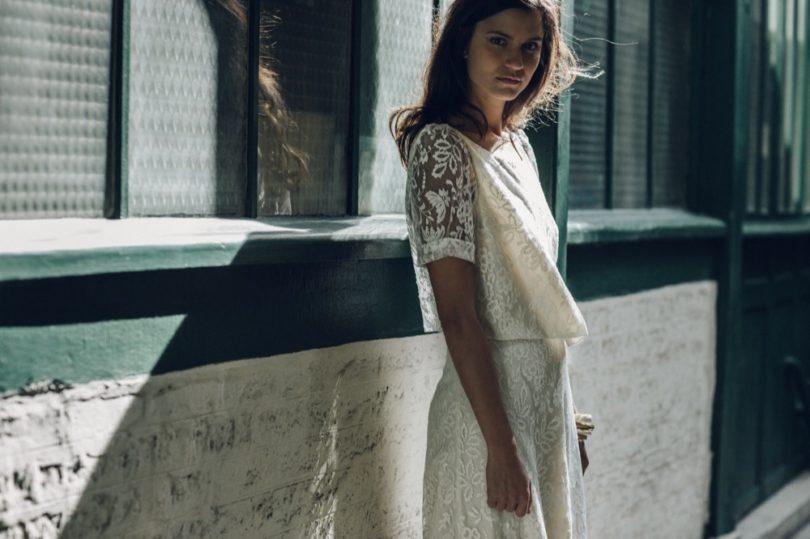 La mariée aux pieds nus - Laure de Sagazan - Robes de mariée - Collection 2016 - Top Avila et Jupe allais - Photo : Laurent Nivalle