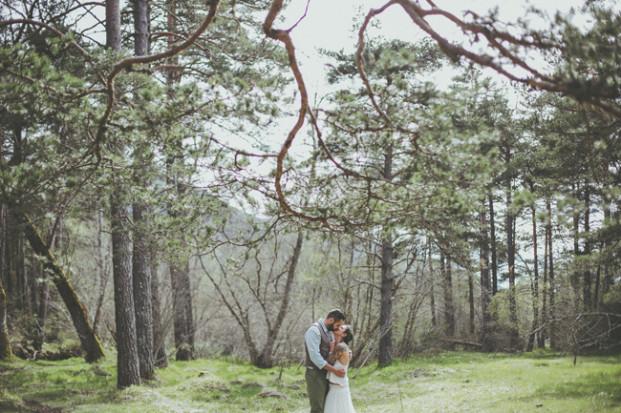 David Latour - Shooting inspiration - Un mariage  dans la nature - La mariee aux pieds nus
