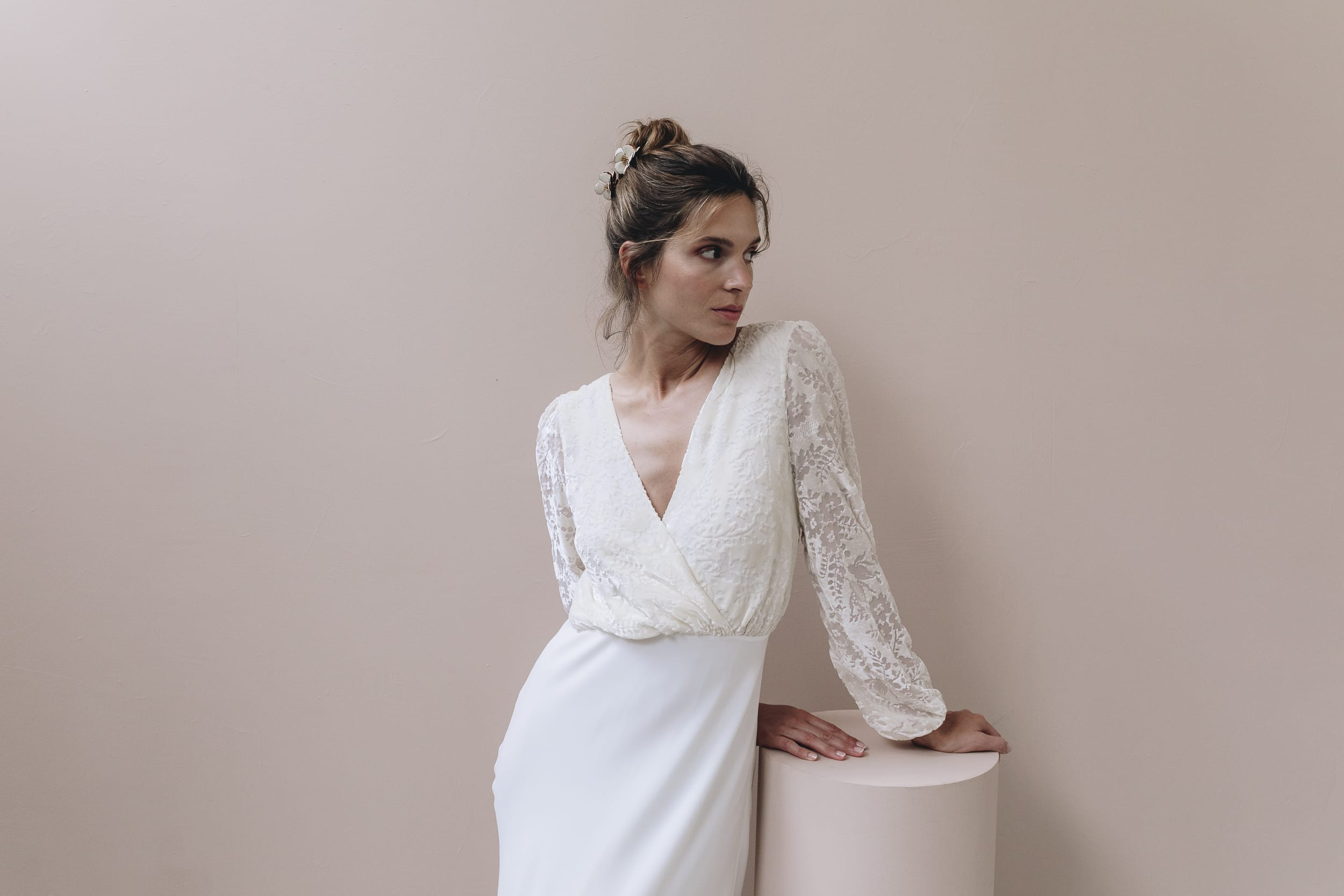 Anne de Lafforest - Robes de mariée - Collection 2021 - Photos : Aude Lemaitre - Blog mariage : La mariée aux pieds nus