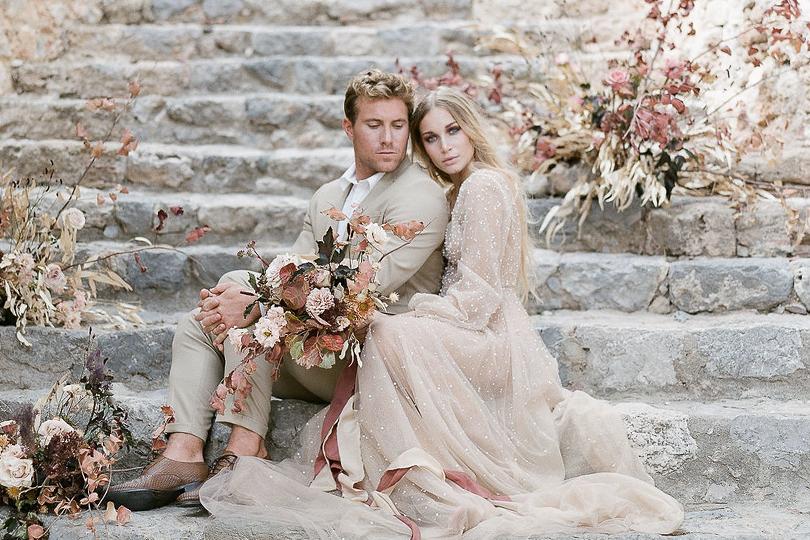 Un mariage romantique et bohème - Photos : Géraldine Lebalnc - Boheme Workshop - Blog mariage : La mariée aux pieds nus