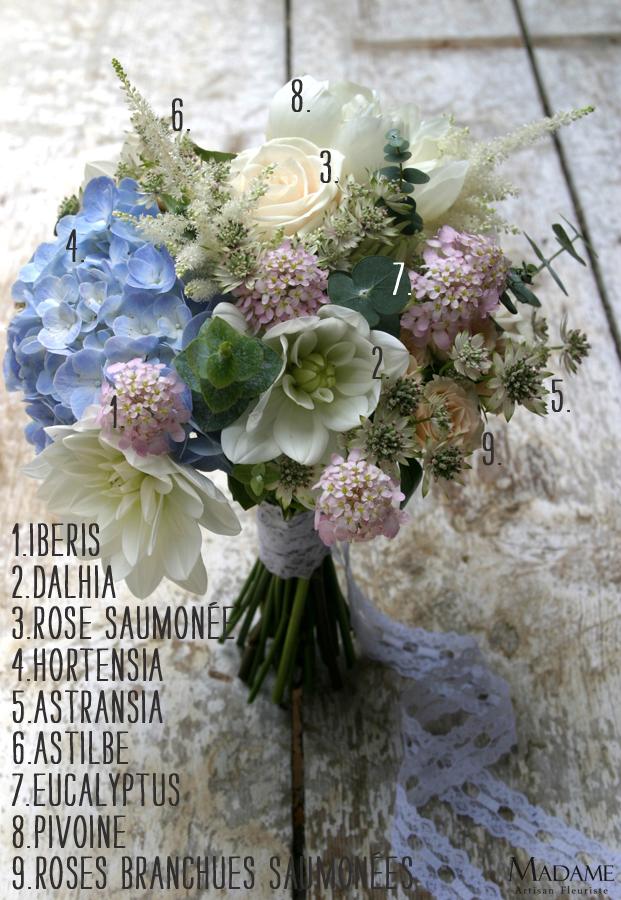 bouquet la mariee aux pieds nus bleu champetre romantiques la mariee aux pieds nus. Black Bedroom Furniture Sets. Home Design Ideas