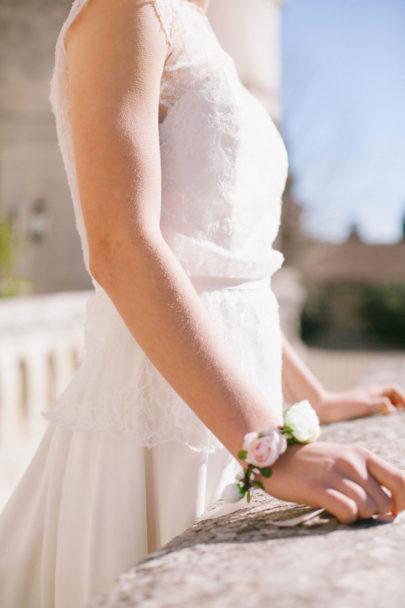 Alex Tome - La mariee aux pieds nus - English Garden - Accessoires de mariée - Bracelet de mariée à fleurs - Kate
