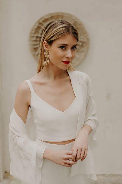 Camille Marguet - Robes de mariée - Collection mariage civil Minimal - Photos : Baptiste Hauville - Blog mariage : La mariée aux pieds nus