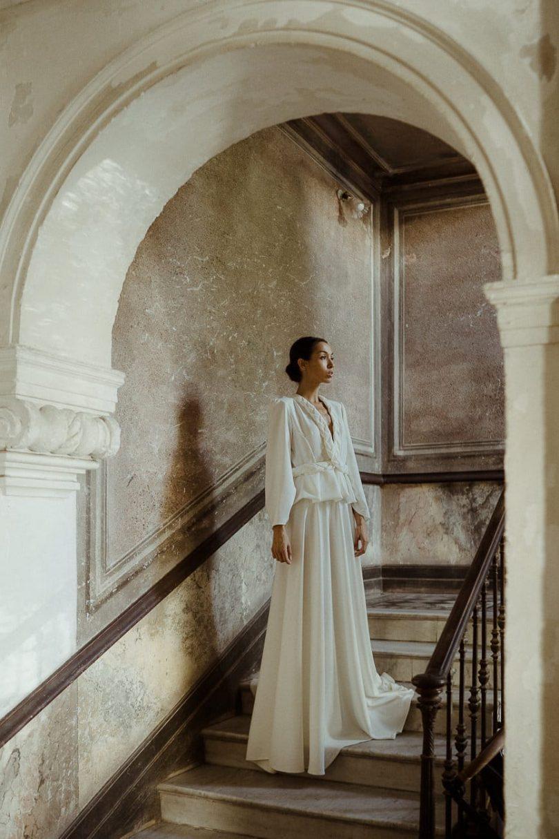 Cécile Casabianca - Robes de mariée - Collection 2021 - Photos : Aurélien Bretonnière - Blog mariage : La mariée aux pieds nus