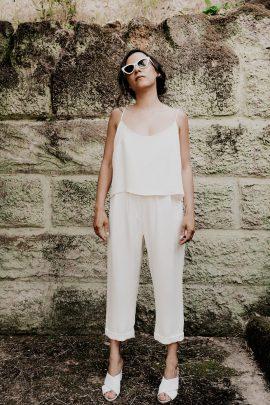 Céline Ménard - Robes de mariée - Collection 2022 - Photos : Céline Deligey - Blog mariage : La mariée aux pieds nus