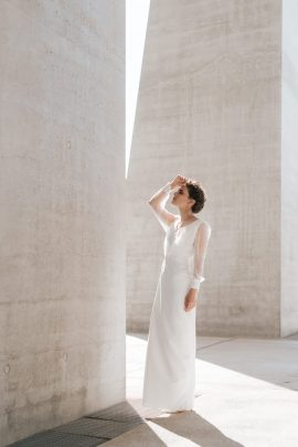 Clémentine Iacono - Robes de mariée - Collection 2020 - Photos : Chloe Lapeyssonnie - Blog mariage : La mariée aux pieds nus