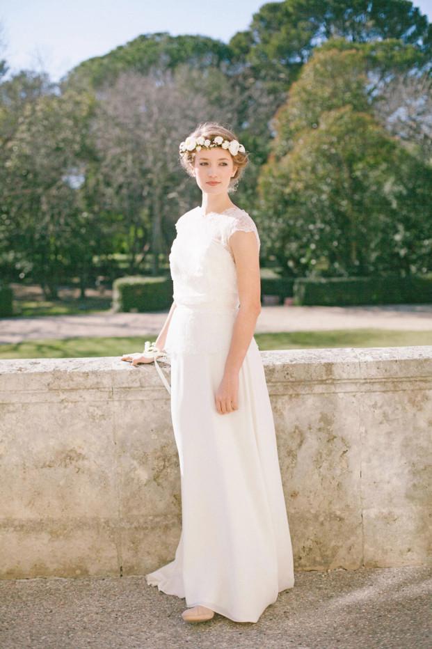 Alex Tome - La mariee aux pieds nus - English Garden - Accessoires de mariée - Couronne de mariée à fleurs - Naomi
