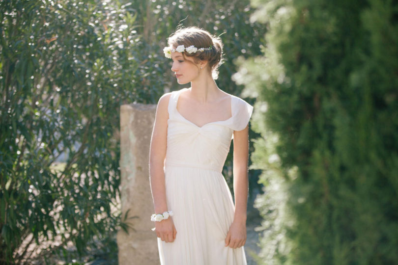 Alex Tome - La mariee aux pieds nus - English Garden - Accessoires de mariée - Couronne de mariée à fleurs - Grace