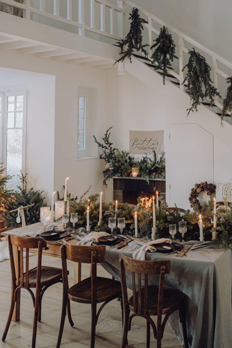 Une décoration de Noël simple et végétale - Photos : Alexandra Maldémé - Blog mariage : La mariée aux pieds nus