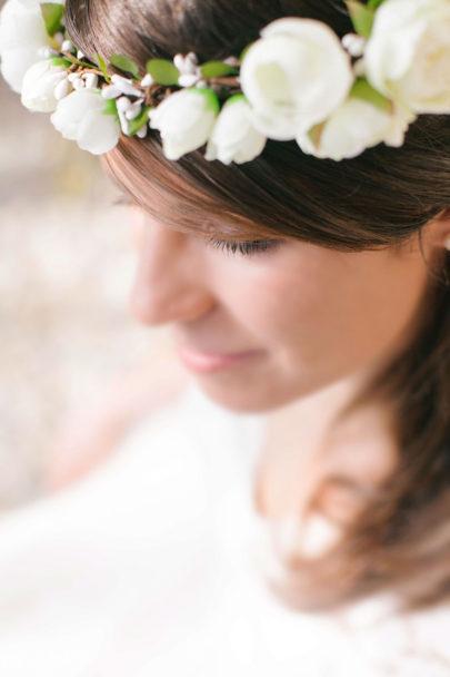 Alex Tome - La mariee aux pieds nus - English Garden - Accessoires de mariée - Couronne de mariée à fleurs - Kate