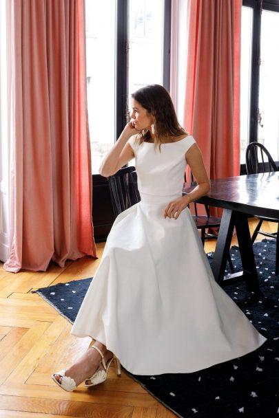 Douce Mariage x Jesus Peiro - Showroom de robes de mariée - Collection mariage civil - Photos : Aude Lemaitre - Blog mariage : La mariée aux pieds nus