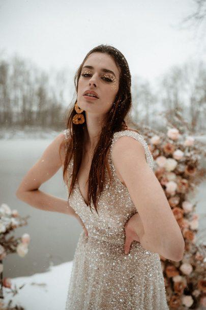 Un elopement sous la neige en hiver - Photos : Marie Dubrulle - Blog mariage : La mariée aux pieds nus