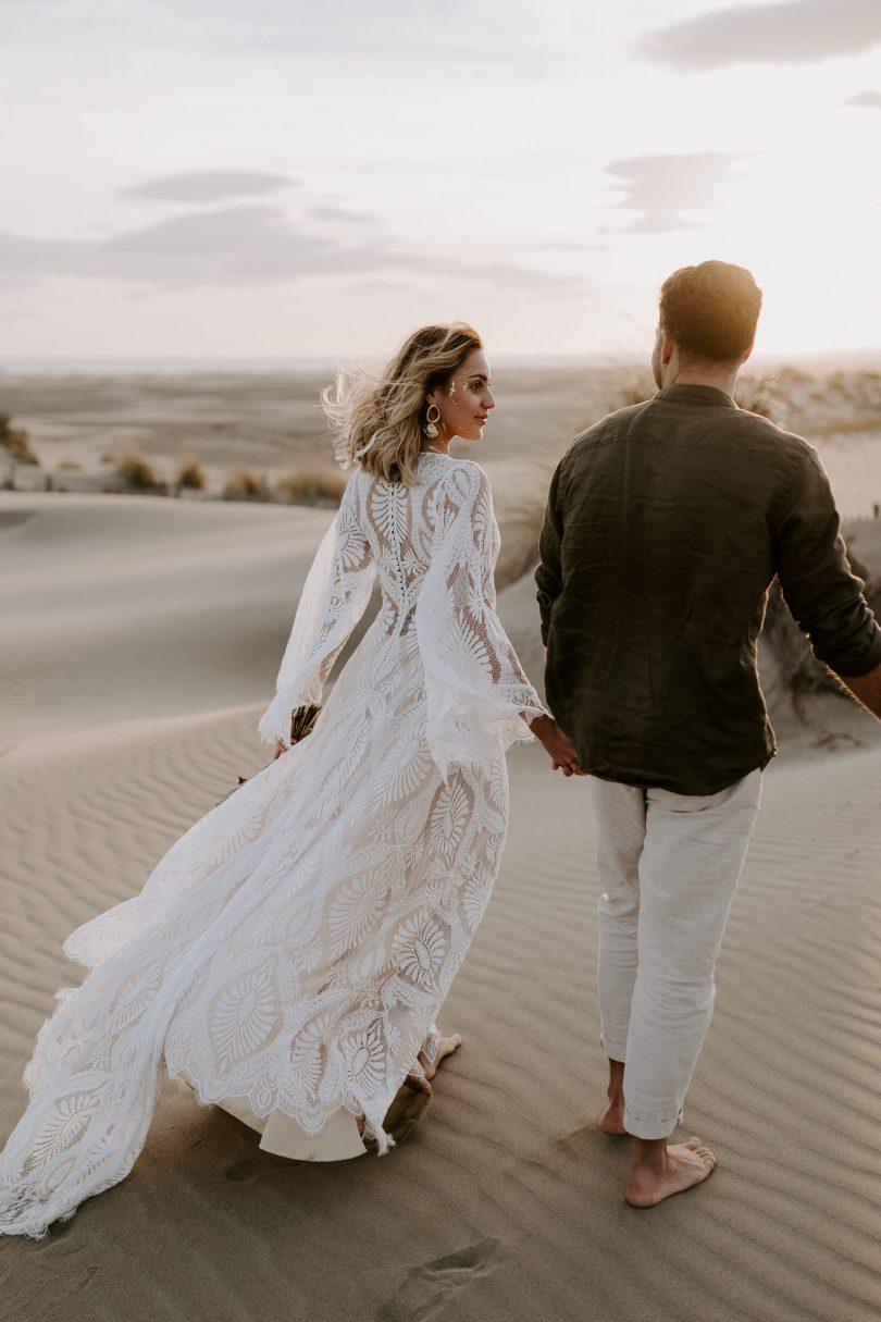 Organiser un mariage en petit comité - Un elopement sur la plage - Photos : Bel Esprit - Blog mariage : La mariée aux pieds nus