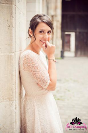 Beatrice de Guigne - Seance engagement retro - La mariee aux pieds nus