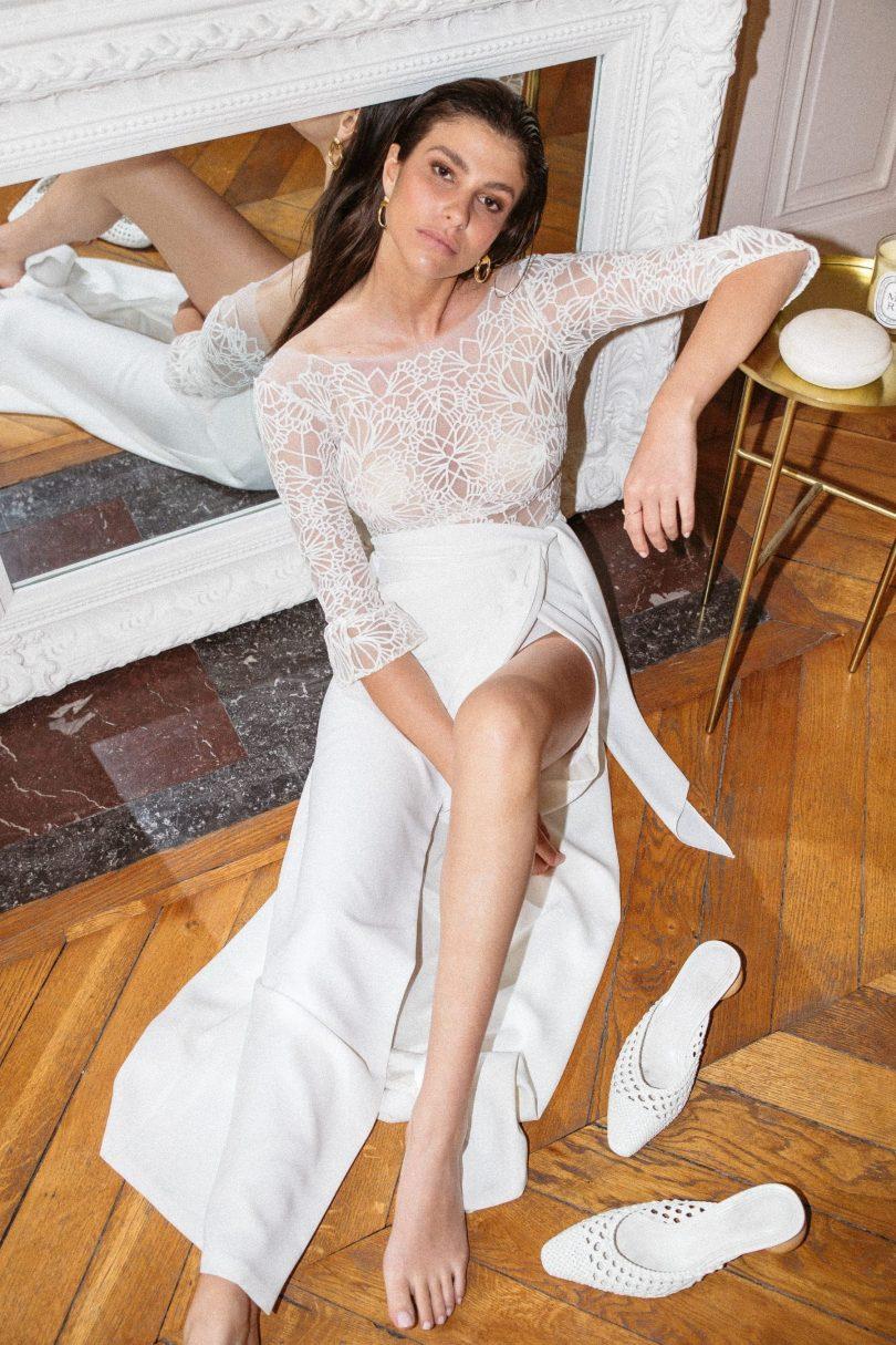 Florence M - Robes de mariée - Collection 2021 - Photos : Fabien Courmont - Blog mariage : La mariée aux pieds nus