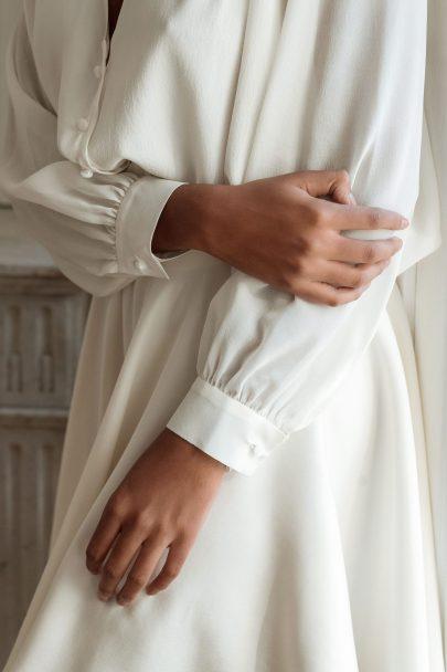 Anna Dautry - Collection civile 2020 - Crédits photos : Henri Buffetaut - Blog mariage : La mariée aux pieds nus.