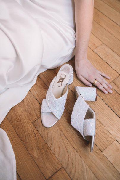 Jeanne Source x Chamberlan - Collab chaussures de mariée - Photos : Les Bandits - Blog mariage : La mariée aux pieds nus