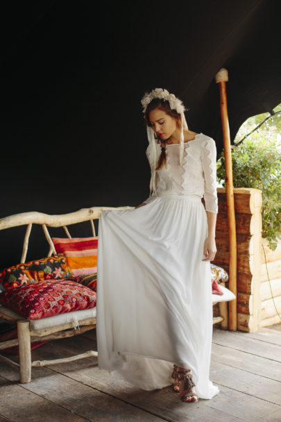 La mariée aux pieds nus - Maison Floret - Robes de mariée - Collection 2017 - Modèle : Gary et Zac