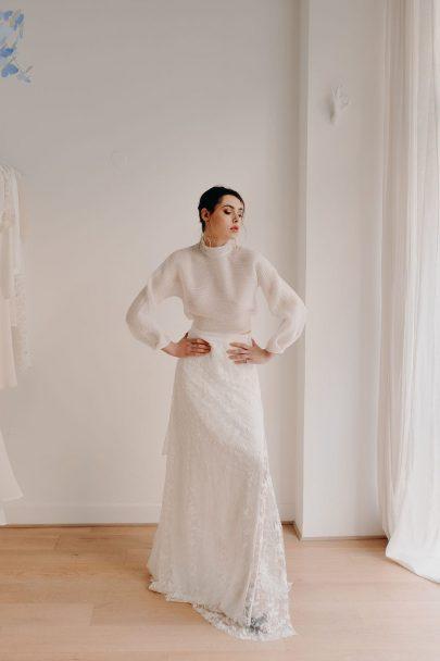 Adélie Métayer - Robes de mariée - Prêt-à-porter - Photos : Elise Morgan - Blog mariage : La mariée aux pieds nus