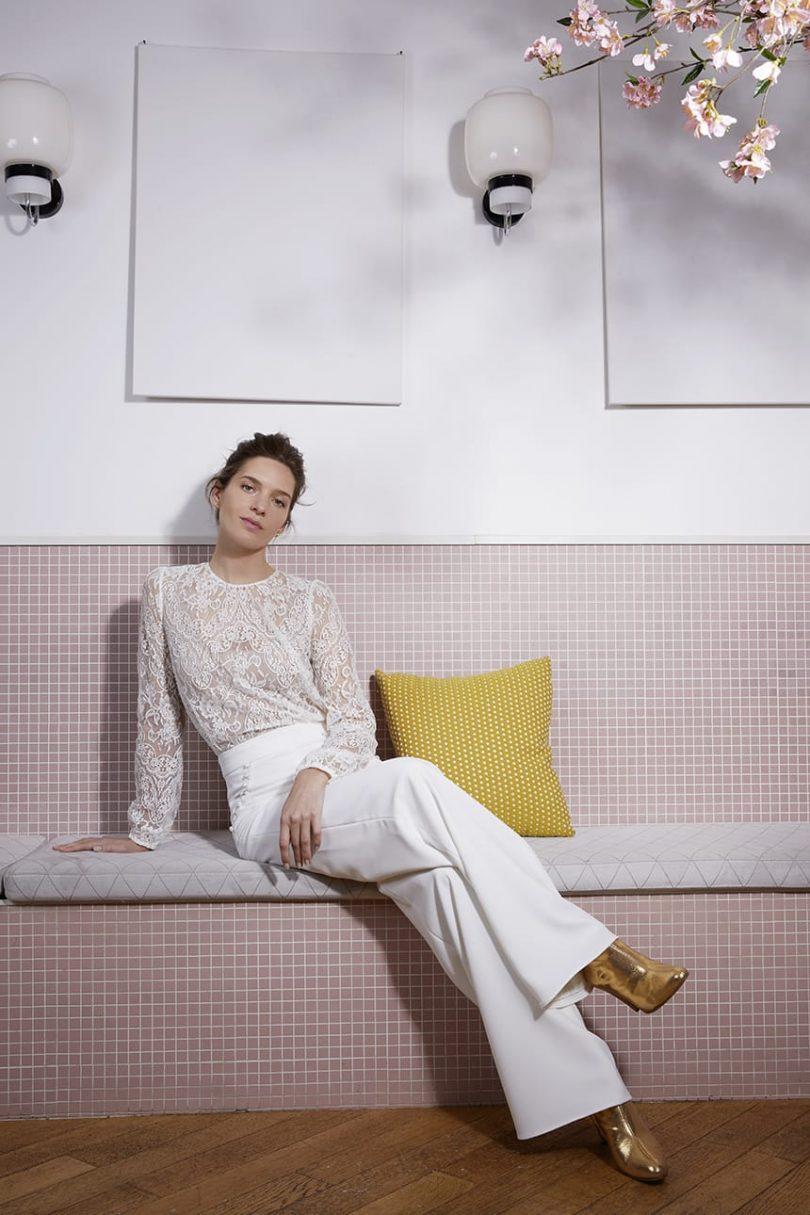 Anne de Lafforest - Robes de mariée - Collection mariage civil 2020 - Blog mariage : La mariée aux pieds nus