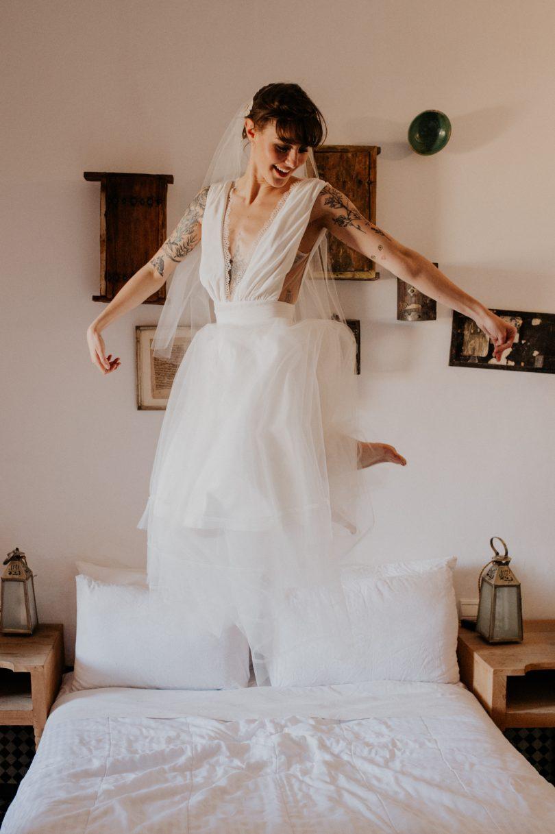 Céline Menard - Robes de mariée - La mariée aux pieds nus