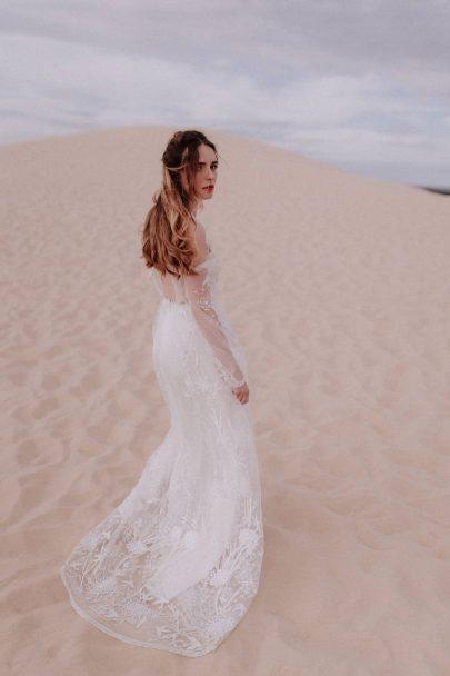 Elodie Courtat - Robes de mariée - Collection 2020 - Photographe : Lika Banshoya - Blog mariage : La mariée aux pieds nus