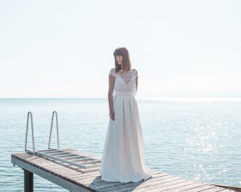 Elodie Michaud - Robes de mariée - Collection 2019 - Blog mariage : La mariée aux pieds nus