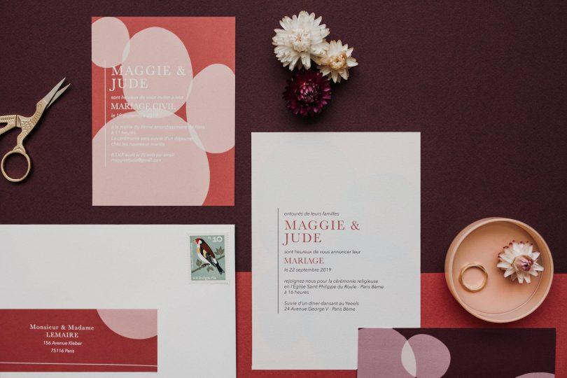 Mister M Studio - Papeterie de mariage - Photos : Marine Blanchard