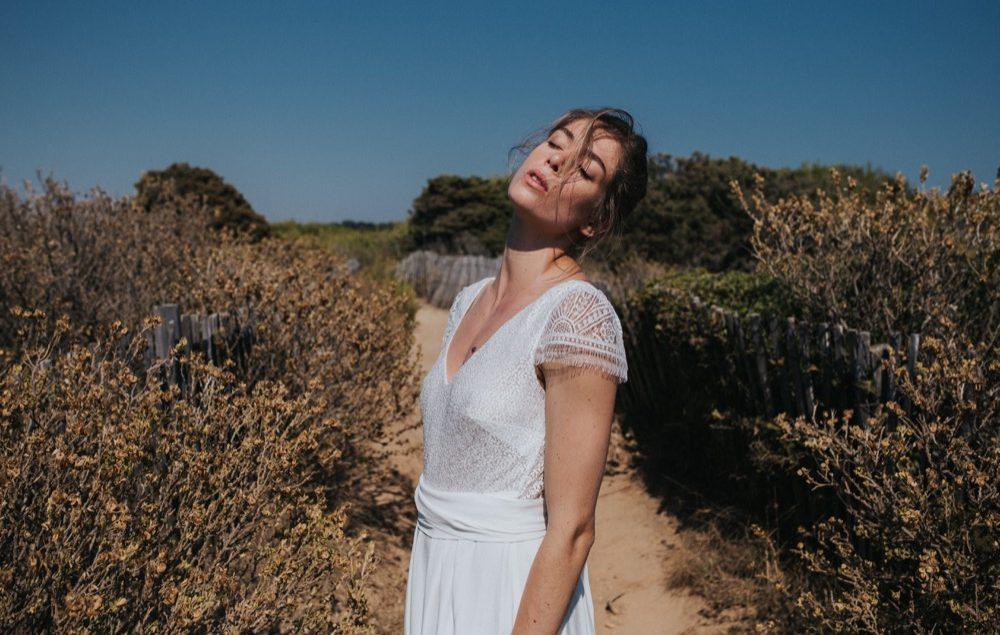 Lorafolk - Robes de mariée - Collection 2018 - Photos : Laurence Revol - Blog mariage : La mariée aux pieds nus