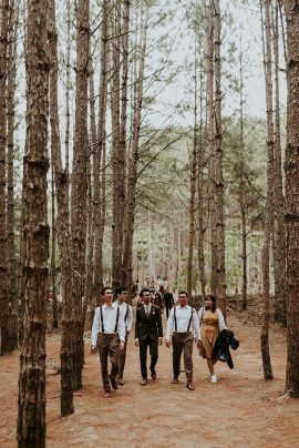 Un mariage romantique dans une forêt au vietnam - Photos : Phan Tien Photography -Blog mariage : La mariée aux pieds nus.