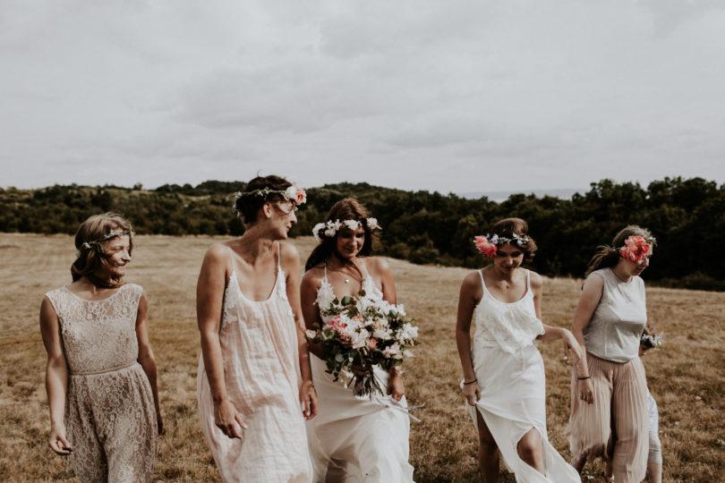 Un mariage simple, champêtre et fleuri