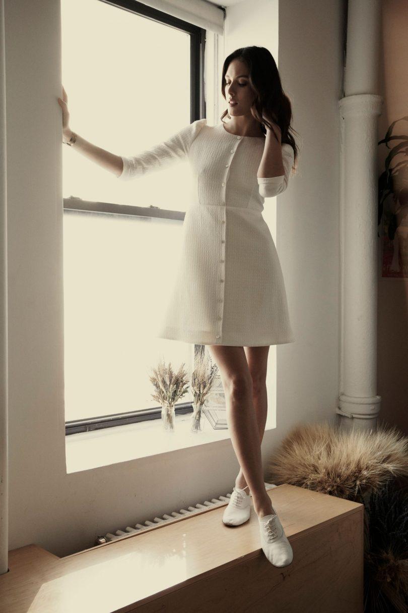 Laure de Sagazan - Robes de mariée - collection mariage civil 2020 - Blog mariage : La mariée aux pieds nus