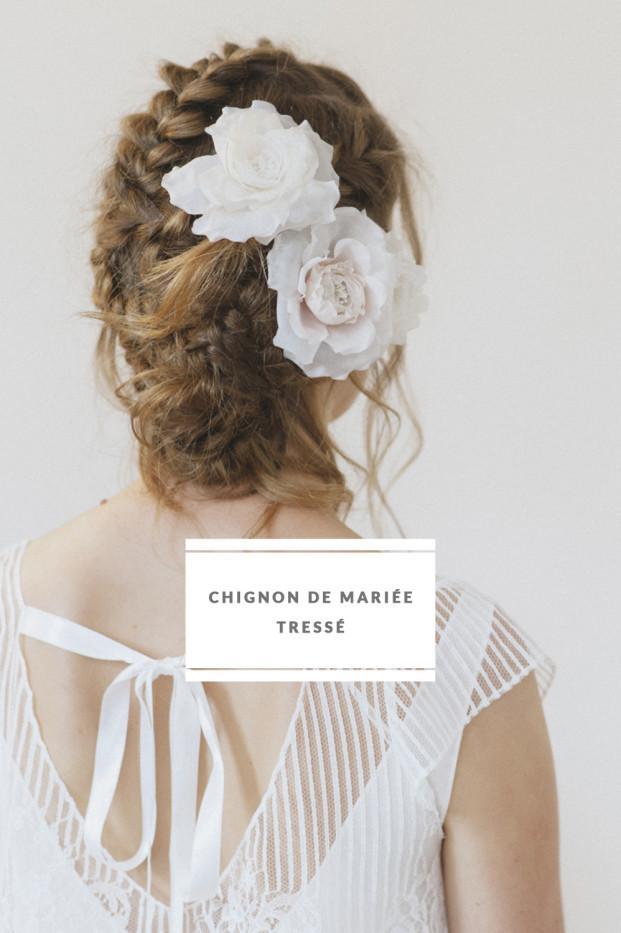 Lovely Pics - DiY - Chignon de mariee tressee - Coiffure de mariee - La mariee aux pieds nus