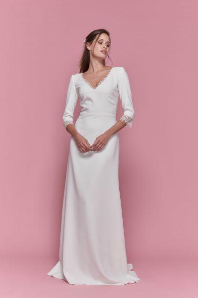 Maison Floret - Robes de mariée - collection Civil - Le Vestiaire - Blog mariage : La mariée aux pieds nus