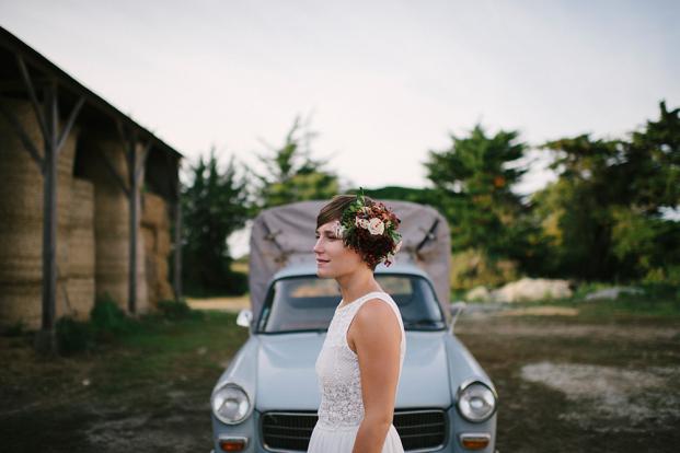 Sandrine Bonnin - Un mariage simple et convivial en automne - La mariee aux pieds nus