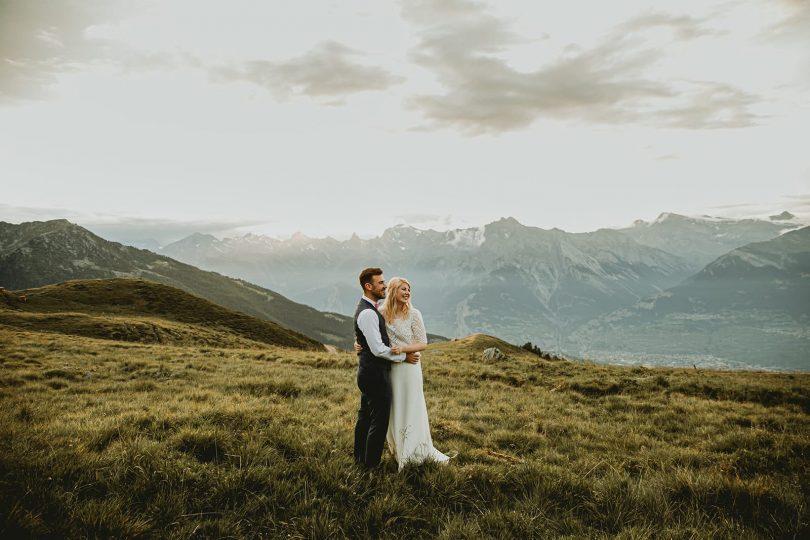 Un mariage dans les Alpes Suisses - Photographe : Kaat DM - Blog mariage : La mariée aux pieds nus