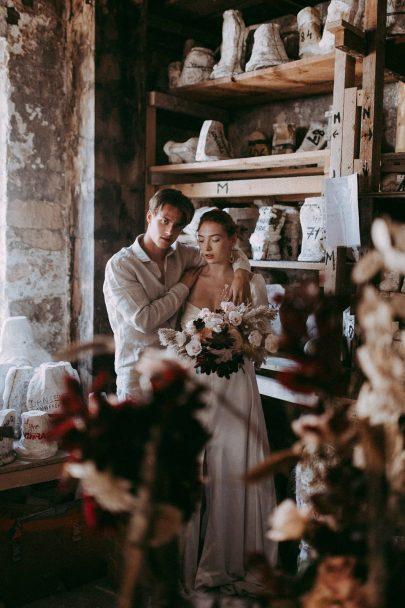 Un mariage inspiré par un atelier d'artiste - Photos : Julie Blin - Blog mariage : La mariée aux pieds nus