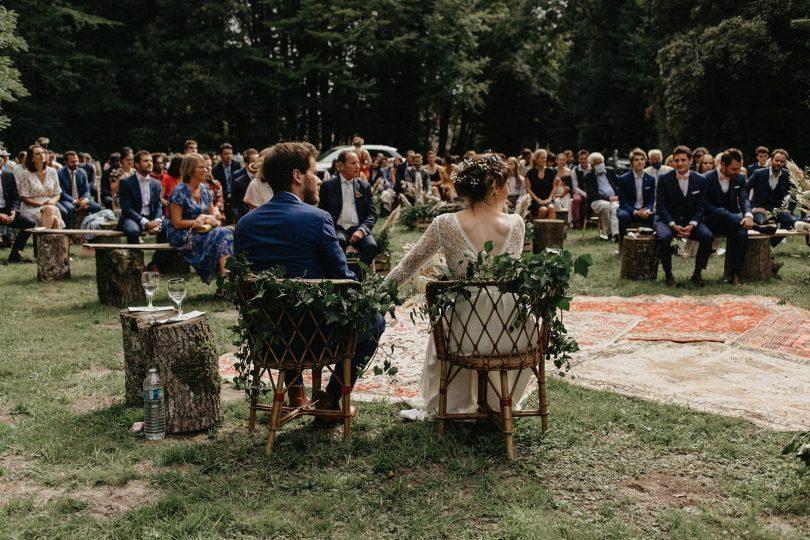 Un mariage bohème en Bourgogne - Photos : Geometry Love - Blog mariage : La mariée aux pieds nus