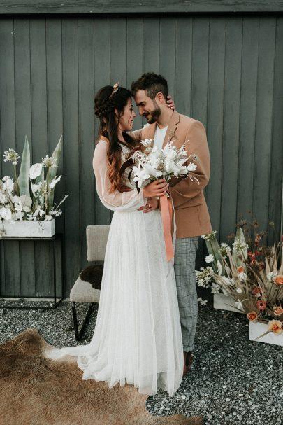 Un mariage au Chalet de Nantailly en Savoie - Photos : Anne Sophie BEnoit - Blog mariage : La mariée aux pieds nus