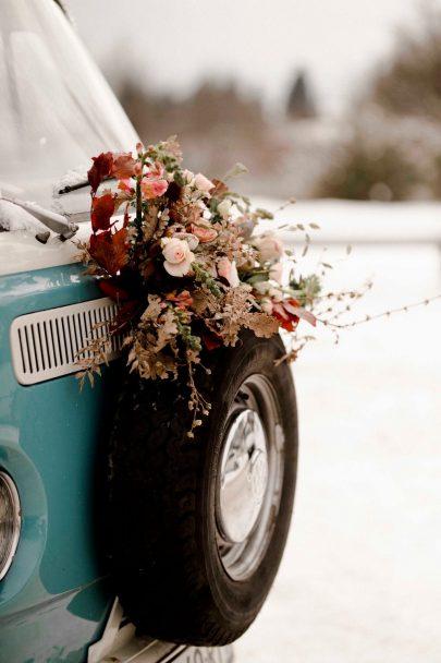 Un elopement bohème en hiver dans la neige - Photos : Solveig et Ronan - Blog mariage : La mariée aux pieds nus