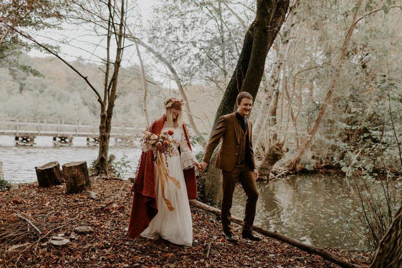 Organiser son mariage en automne - Photos : Dorothée Buteau - Blog mariage : La mariée aux pieds nus