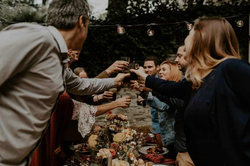 Un mariage folk en petit comité dans la maison de famille